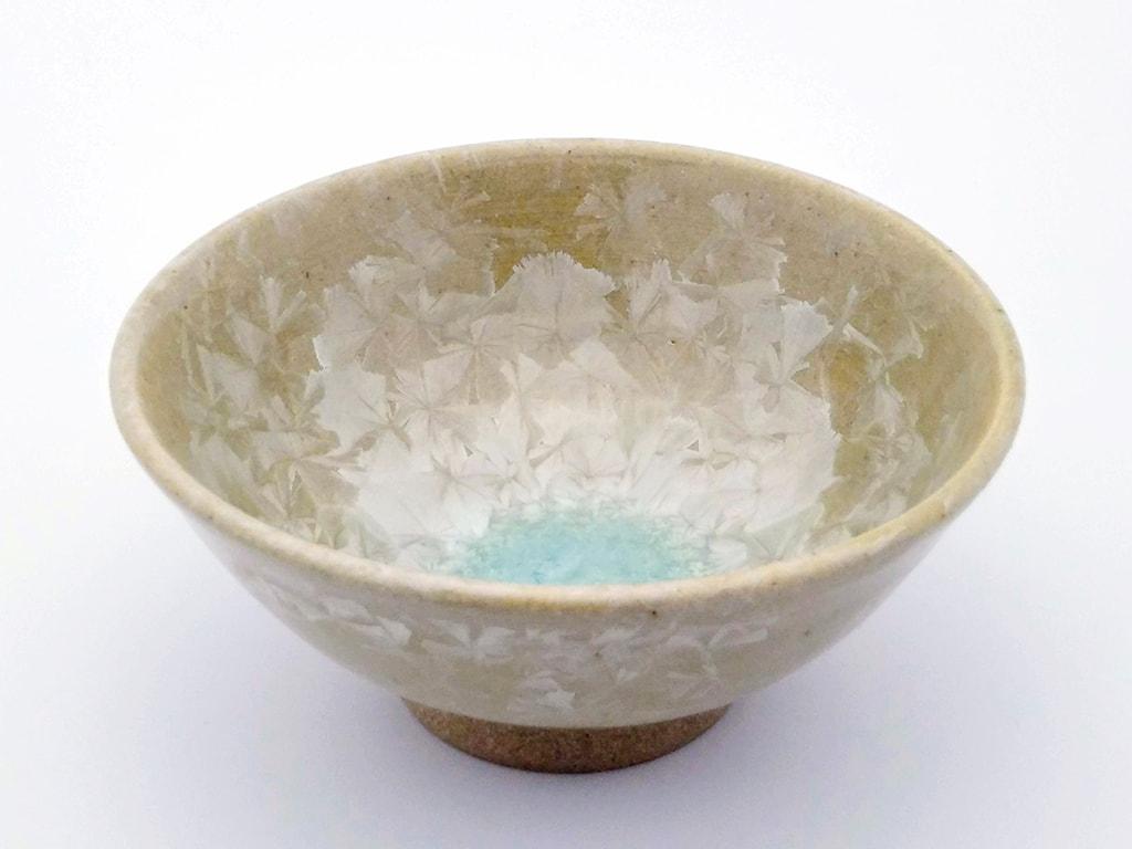 亜鉛結晶釉 盃(緑)